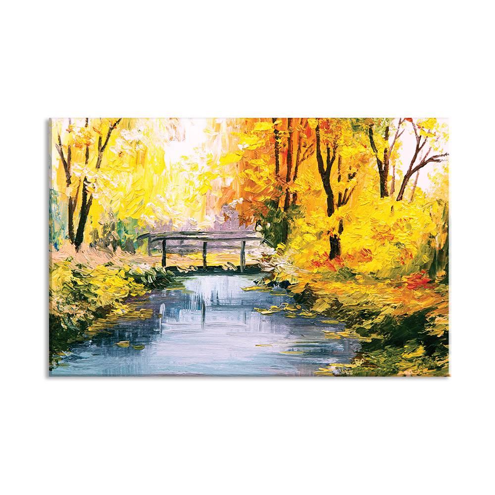 Foto op doek -Schilderij rivier - 20A1