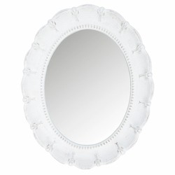 Wandspiegel Whitewash Hout - 30xH40 cm