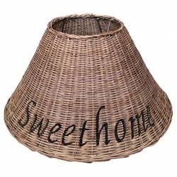 Bruine rieten lampenkap - Sweet Home