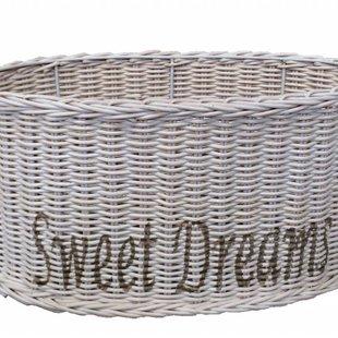 Ovale witte rieten lampenkap - Sweet Dreams