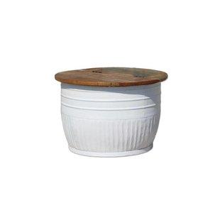 Bijzettafel Storage Wit - Ø70xH45 cm