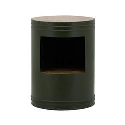 Bijzettafel Barrel Groen - Ø40xH55 cm