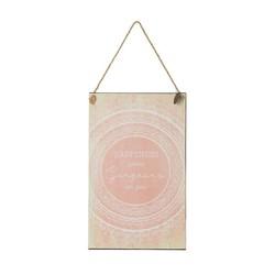 Tekstbord Circle Roze - 23xH38 cm