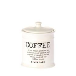 Voorraadpot Koffie Wit - Ø10xH12,5 cm
