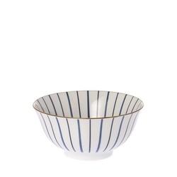 Schaal Lines Blauw - Ø15,5xH7 cm