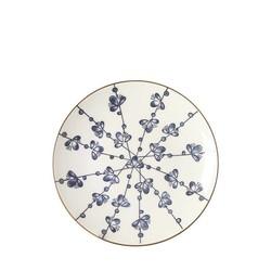 Ontbijtbord Leaves Blauw - Ø21,5xH2,5 cm