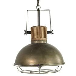 Hanglamp Etiënne Grijs Rond - 39x40xH154 cm