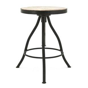 Zwart Kruk Verstelbaar - Ø45xH45 cm