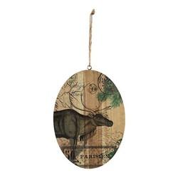 Houten Kersthanger Rendier - 18,5x1xH25 cm