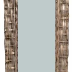 Rieten spiegel - 30x53 cm