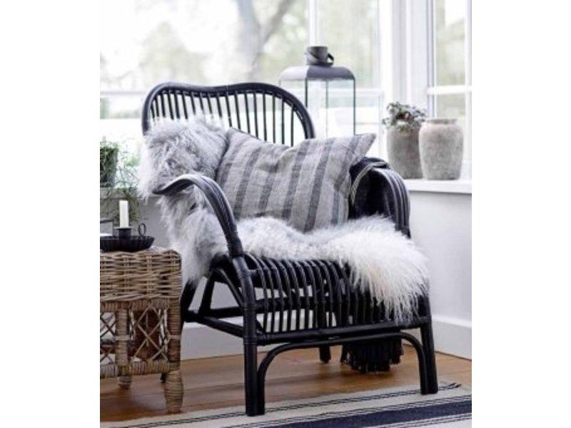 Rotan Lounge Stoel : Zwarte rotan loungestoel xh cm gewoonknus