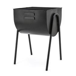 Zwarte Metalen Tijdschriftenhouder - 37x40xH55 cm