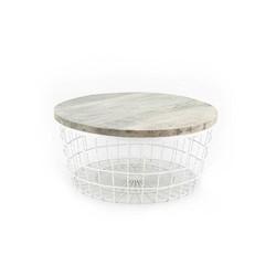 Witte Salontafel New Glory - Ø70xH30 cm