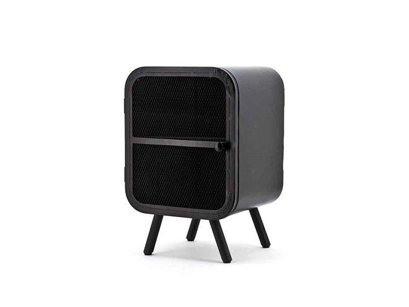 By-Boo Zwarte Metalen Kastje Rubix - 40x35xH60 cm