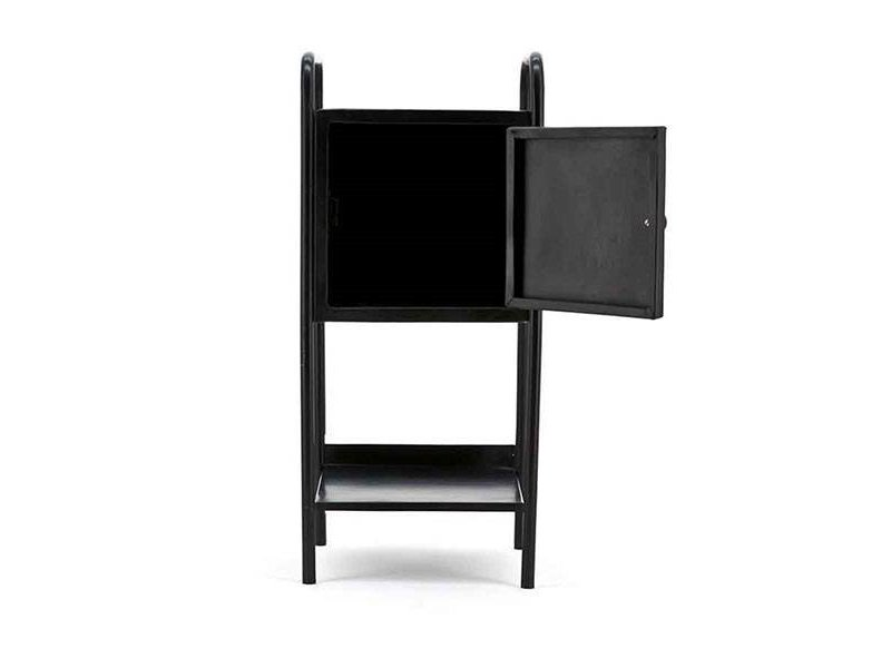 By-Boo Zwarte Metalen Kastje Pandora - 33x30xH75 cm