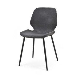 Zwarte Eetkamerstoel Seashell - 46x58xH84 cm
