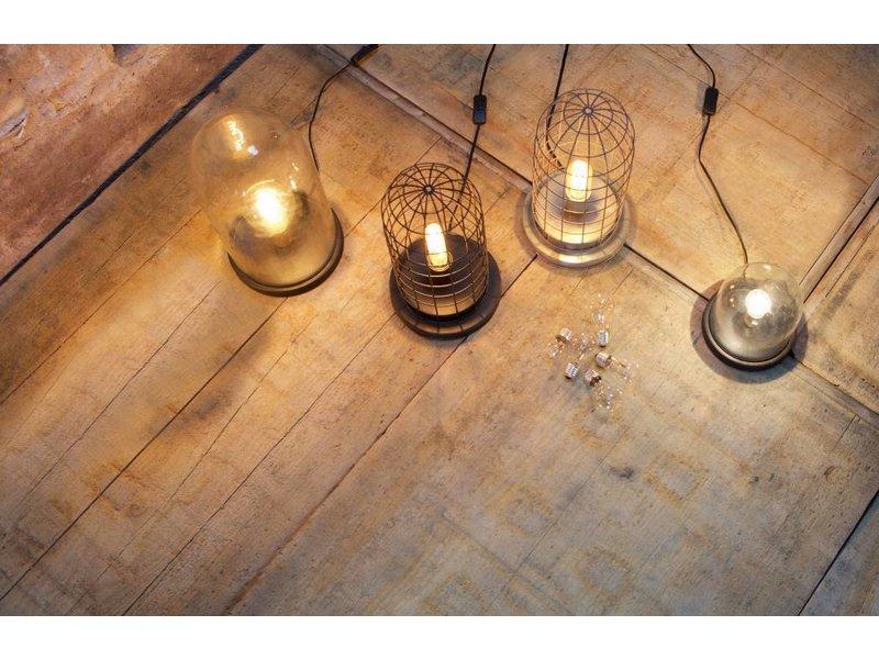 BePureHome Zwarte Tafellamp Stolp - Ø20xH38 cm