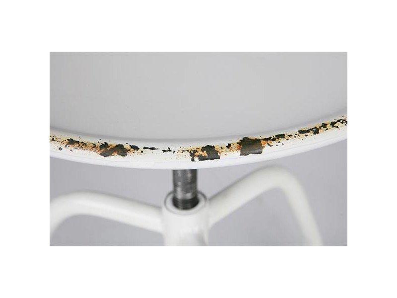 BePureHome Witte Metalen Kruk Damage - Ø42xH41 cm
