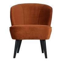 Fauteuil Fluweel Sara Roest - 59x70xH71 cm