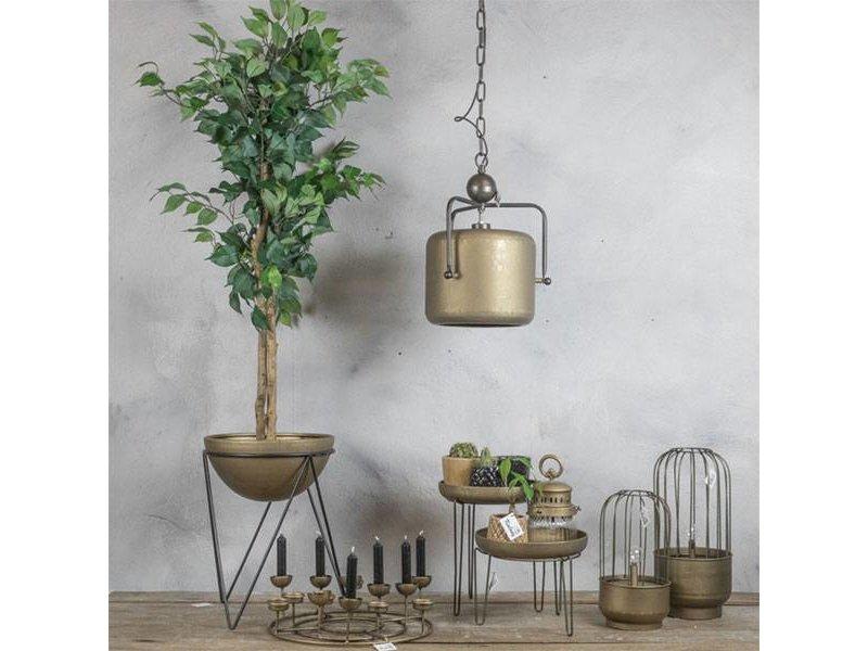 GeWoon Metalen Lantaarn met lampje - Ø18xH36,5 cm