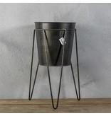 GeWoon Metalen Vaas met standaard - Ø20xH39 cm