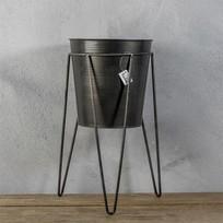 Metalen Vaas met standaard - Ø20xH39 cm