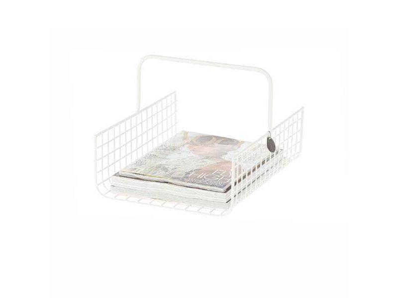 Riverdale Tijdschriftenrek Wire Wit - 28x35xH23 cm