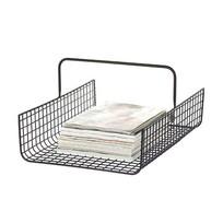 Tijdschriftenrek Wire Zwart - 37x50xH25 cm