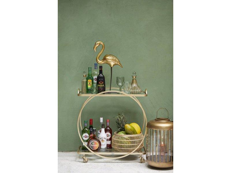 Riverdale Amaro Gouden Dranktafel - 71x39xH75 cm