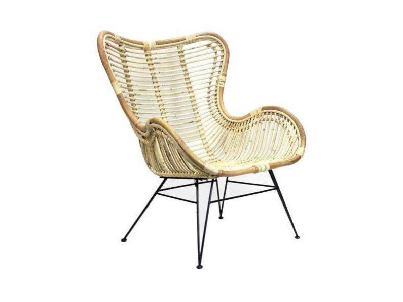 GeWoon Rotan Vlinderstoel - 70x76xH90 cm