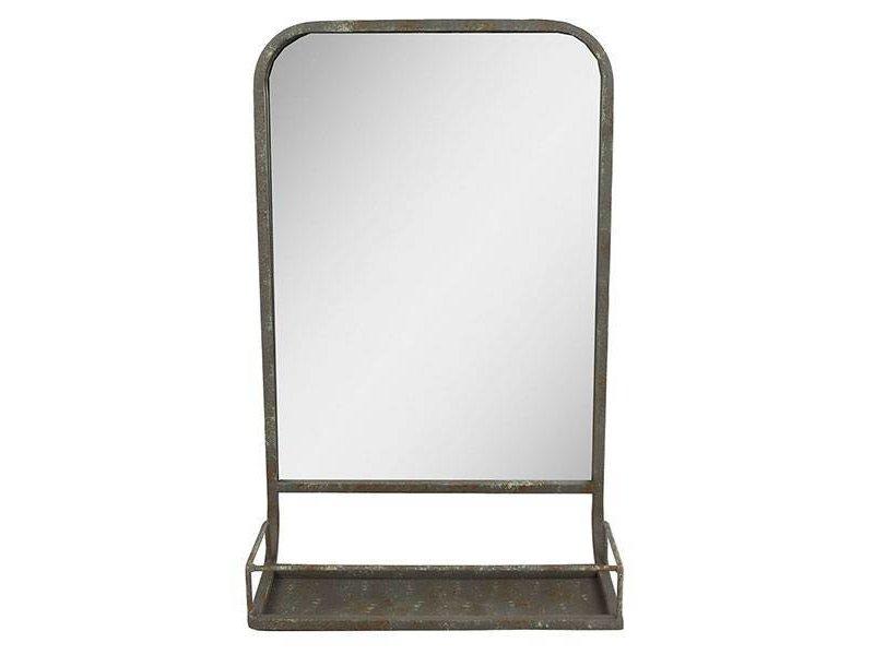 GeWoon Wandspiegel met rekje - 32,5x15xH52 cm