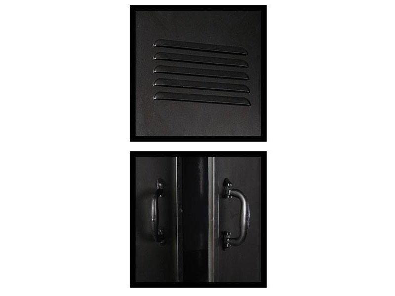 GeWoon Zwarte Metalen Lockerkast - 61x36xH109,5 cm