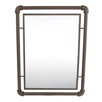 Roestbruine Metalen Wandspiegel Waterleiding - 40x3xH53 cm