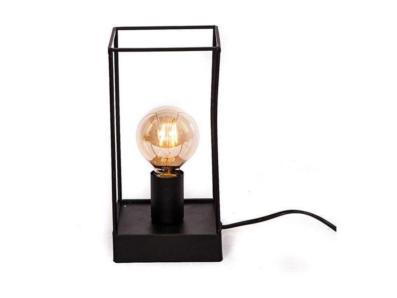 GeWoon Vierkante Tafellamp Metaal - 13,5x13,5xH27 cm