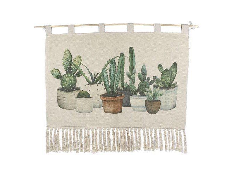 GeWoon Wandkleed Cactus - 90xH60 cm