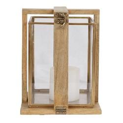 Lantaarn Mangohout - 17x17xH21 cm