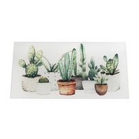 Glazen Wanddecoratie Cactussen - 40x0,8xH20 cm