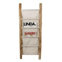 Tijdschriftenrek Ladder - 36,5x4xH100 cm