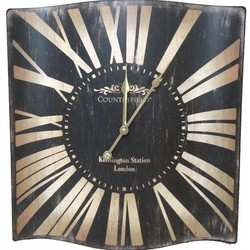 Zwarte metalen wandklok Kensington - 48x50 cm