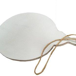 Whitewash houten broodplank Pizza - 46x35 cm