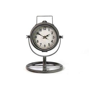 Grijze Tafelklok Felix - 20,5x20,5xH29,5 cm