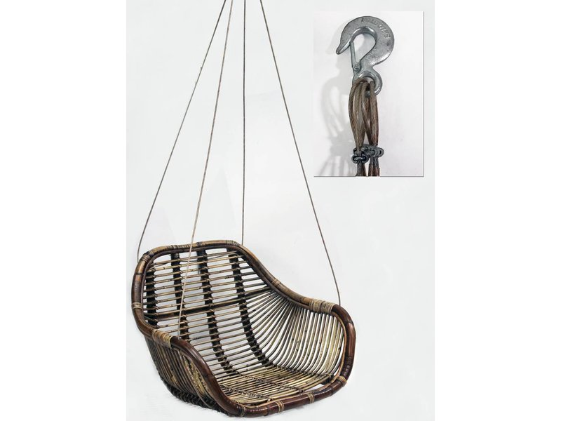 GeWoon Rotan Hangstoel Swing - 66x65xH49 cm