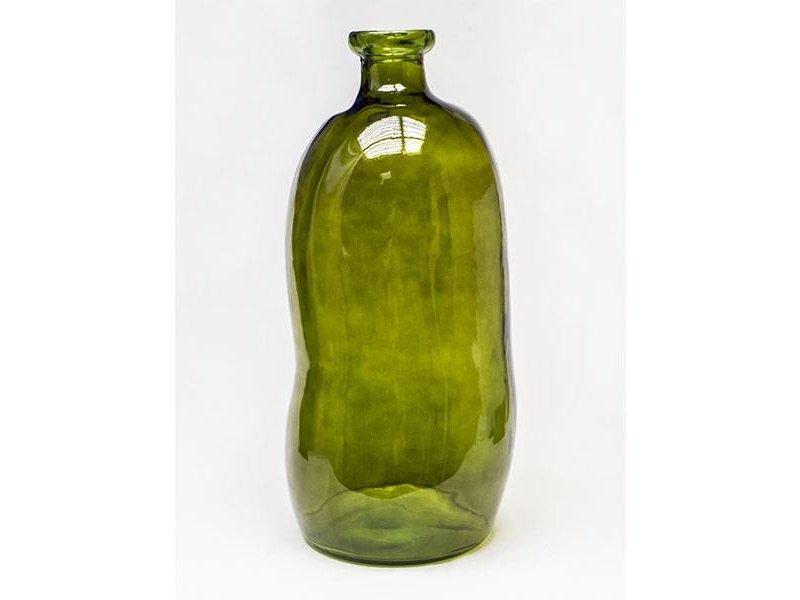 GeWoon Vaas Glas Vintage Groen - Ø34xH73 cm