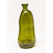 Vaas Glas Vintage Groen - Ø22xH51 cm