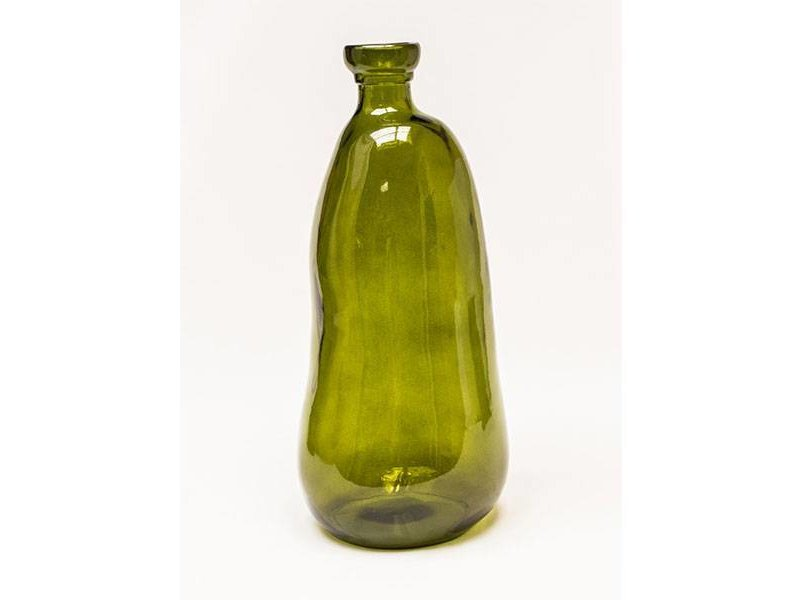 GeWoon Vaas Glas Vintage Groen - Ø22xH51 cm