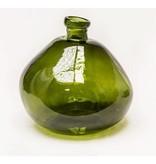 GeWoon Vaas Glas Vintage Groen - Ø33xH33 cm
