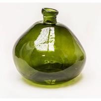 Vaas Glas Vintage Groen - Ø33xH33 cm