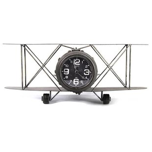 Wandklok Vliegtuig Hugton - 48x31xH19,5 cm
