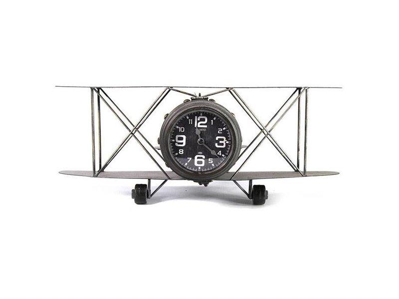 Countryfield Wandklok Vliegtuig Hugton - 48x31xH19,5 cm