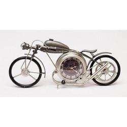 Metalen Klok Motor - 48x8xH19 cm